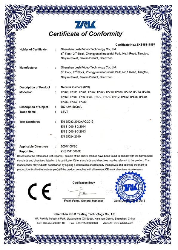 Certifications Attained By Shenzhen Lsvt Co Ltd