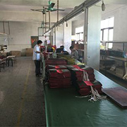 Daqin Leather Goods Factory - Our production line for packaging