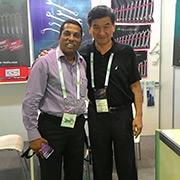 Transtime Tools Co Ltd-Mr. Sunny Huang in Dubai fair