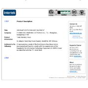 Zhongshan Kingrong Electronics Co. Ltd-Intertek (ITS) certified