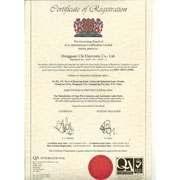Cfe Corporation Co.,Ltd - Our ISO certificate