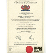 Cfe Corporation Co.,Ltd - Our certificate