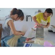 Juancheng County Meiya Arts & Crafts Co. Ltd - Our staffs are batting human hair.