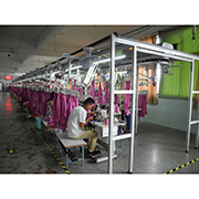 Ningbo Yinzhou Taifeng(Zhibao) Garments Co.,Ltd. - Our Piping System Sewing Line