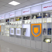 Shenzhen Chitongda Electronic Co. Ltd - Our wolfguard show room in the office