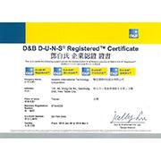 Asialink International Technology Corporation - Dun & Bradstreet Certificate