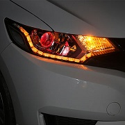 Switchback flexible LED DRL