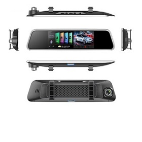 Voice-controlled 4G GPS rearview mirror