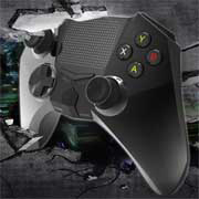 Wireless game controller has sleek touchpad