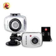 Action camera water-resistant to 10m