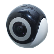 Action camera adopts dual fish-eye lenses