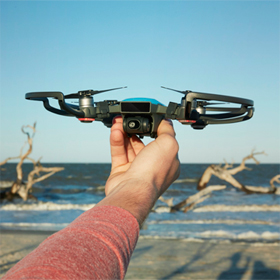 Mini drone features hand gesture control