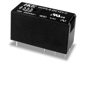 Power relay has 16A switching current