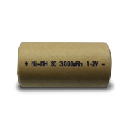 NiMH battery provides 3,000mAh capacity