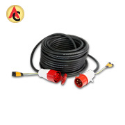 3-phase hybrid DMX cable assembly