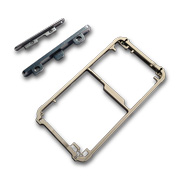 Metal frame, button covers for phones