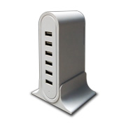 50W 6-port USB charging station