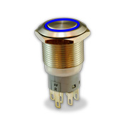 Push-button switch with IP67, IK10 ratings