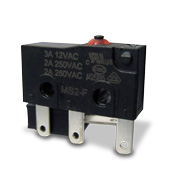 SPDT microswitch with 250VAC, 10A rating