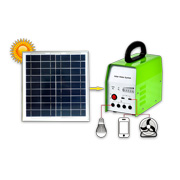 Home solar power system with 17V, 20W panel