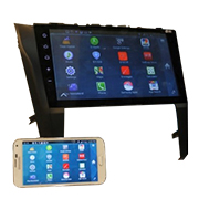 Car infotainment system works as screen for Android, iOS phone