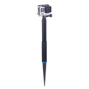 Spiked-foot camera monopod
