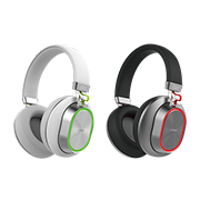 Bluetooth headphones with color-changing LED lights