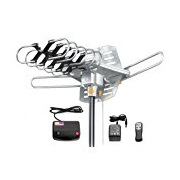 Vilso TV Antenna Outdoor Amplified - Motorized 360-Degree Rotation