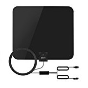 Esky 50 Miles Range Ultra-Thin Indoor Digital HDTV Antenna