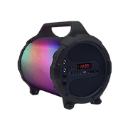 Color-changing bazooka party speaker