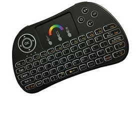 Wireless mini keyboard with multitouch mouse