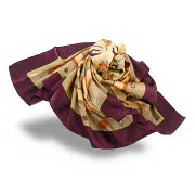 Multicolor printed polyester satin scarf