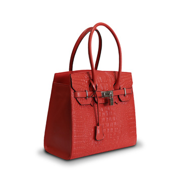 Women's PU leather handbag has customizable patterns