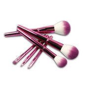 Handmade aluminum makeup brush set