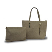 Leather tote bag comes with a small bag