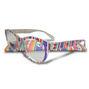 Reading glasses have colorful printed frame