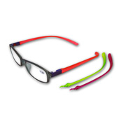 Colorful reading glasses with changeable stems