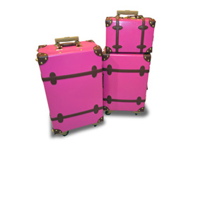 ABS luggage set with PU leather surface