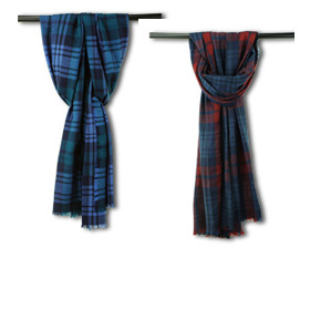 Pure wool scarf for autumn, winter