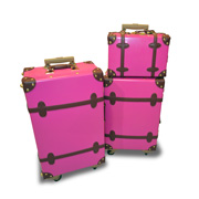 Vintage-style luggage set in ABS