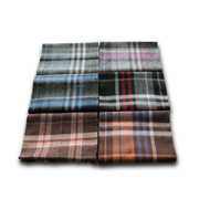 Pure lambswool men's scarf