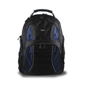 Laptop backpack features specialized pockets
