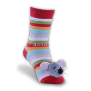 Cute anti-skid mouse children's socks