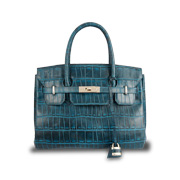 Genuine crocodileskin women's handbag
