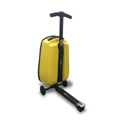 Luggage scooter in patented one-key design