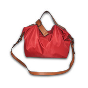 Foldable nylon microfiber shoulder bag