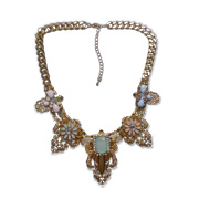 Turquoise-adorned statement necklace