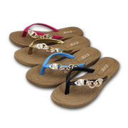 Women's flip-flops feature hemp rope insoles