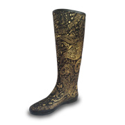 Baroque-inspired rubber rain boots