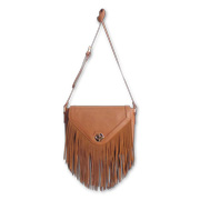 Women's suede crossbody tassel bag